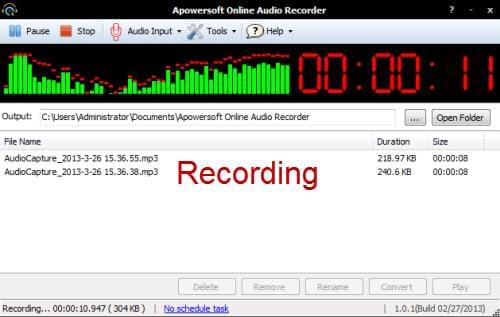 record audio online for mac