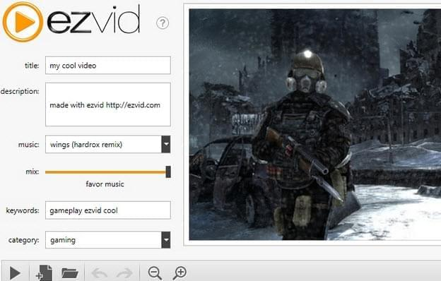 Ezvid Free Video Editing software