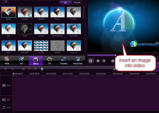 add image to video with video editor