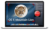 record OS X Mountain Lion screen