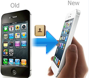transfer contacts from old to new iPhone