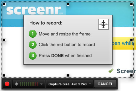 screenr record tablet screen