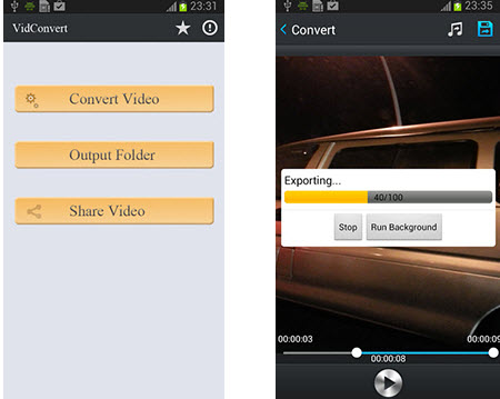 Vidconverter interface