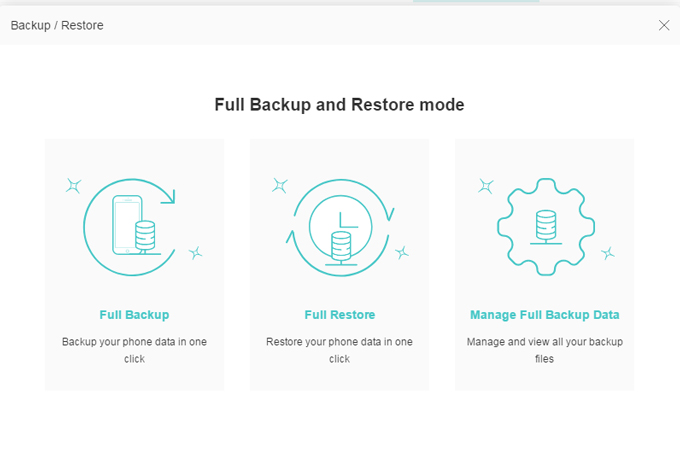 Restore iPhone 6 with ApowerManager