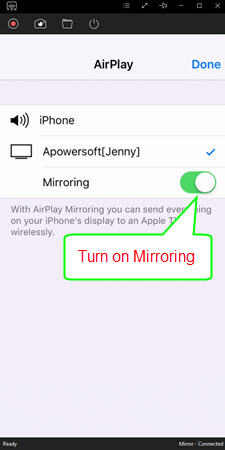 mirror iPhone to PC