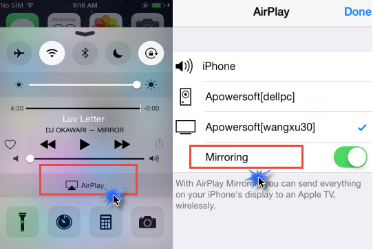 connect AirPlay