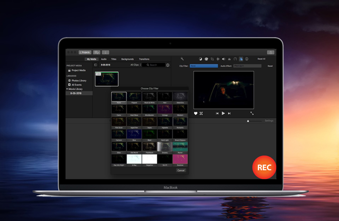 record video in iMovie
