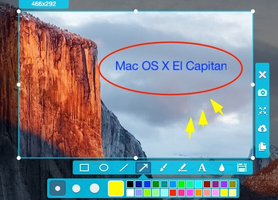 how to take a screenshot on Mac OS X El Capitan