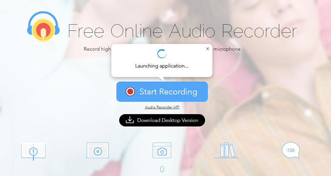 launch online audio recorder
