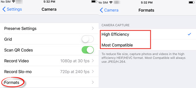 High Efficiency vs Most Compatible