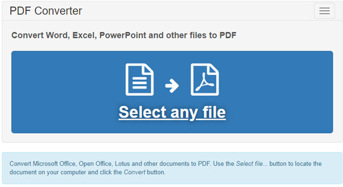 PDF Converter Interface