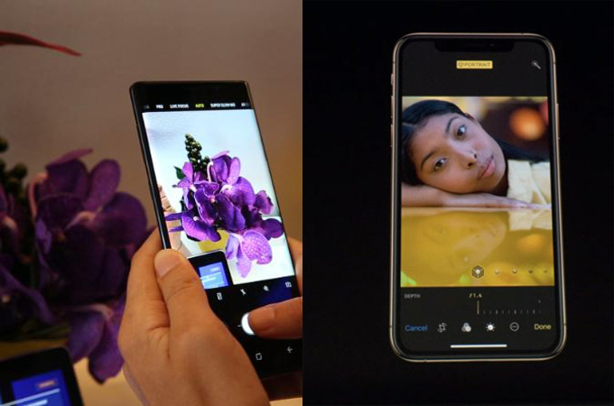 difference between iPhone XS Max and Samsung Galaxy Note 9