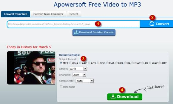 free convert dailymotion to mp3