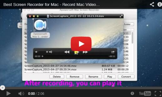 mac screen recorder youtube