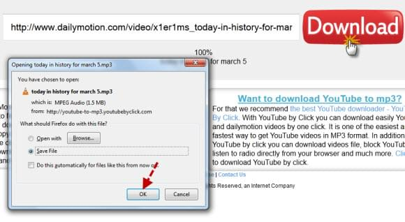 dailymotion mp3 converter