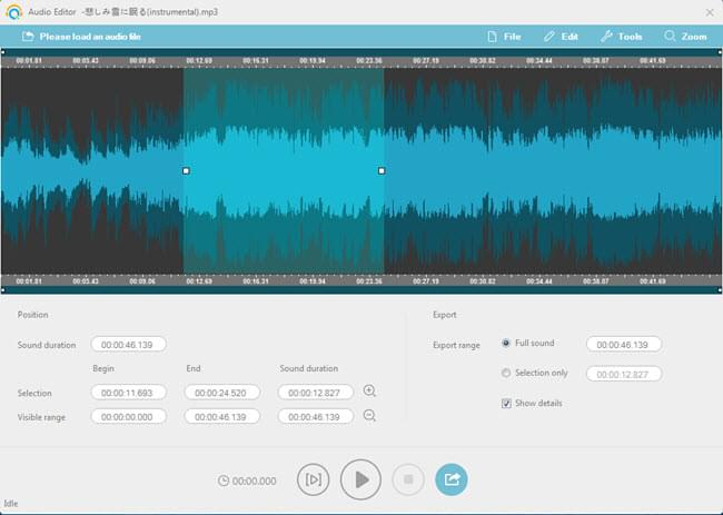 inlaid audio editor