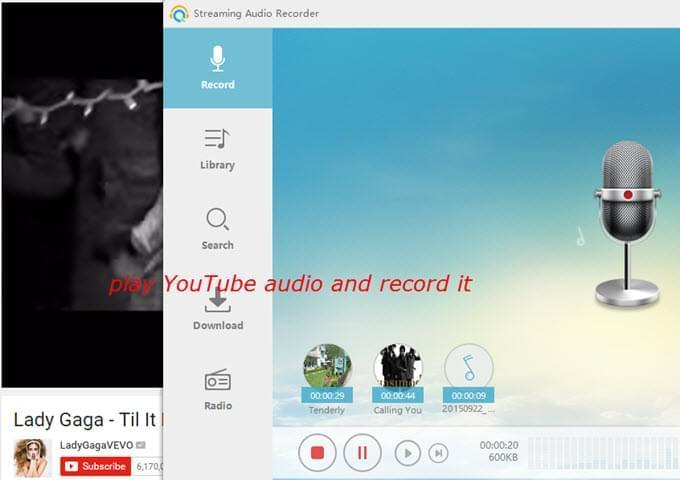 recording mp3 youtube