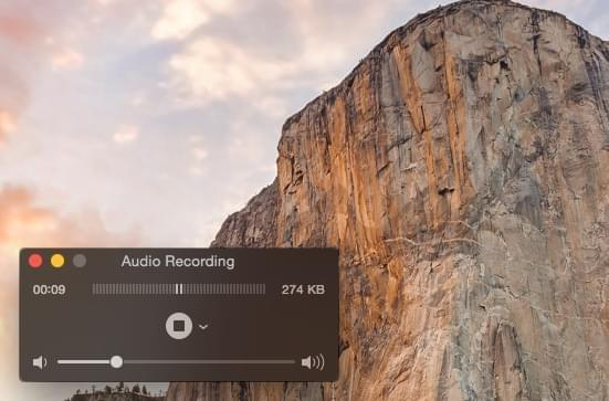 quicktime audio recording