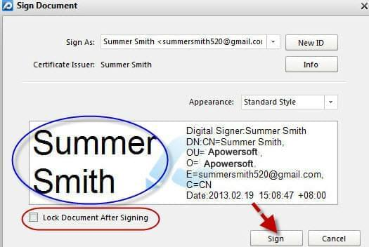 add signature with PDF editor