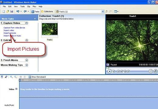 insert picture to video with Windows Movie Maker