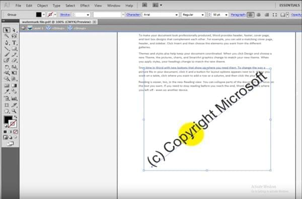 how to remove watermark from pdf in adobe reader
