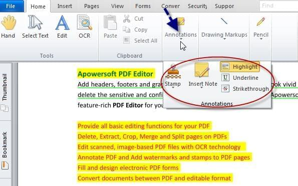 annotate PDF with PDF Editor