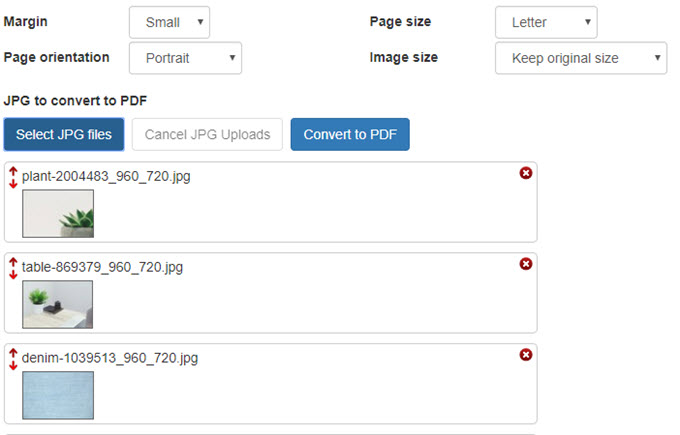 how to convert file jpeg to pdf