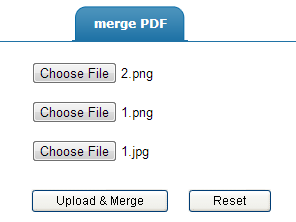 merge images to PDF