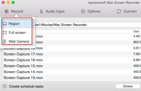 record mac screen with audio apowersoft
