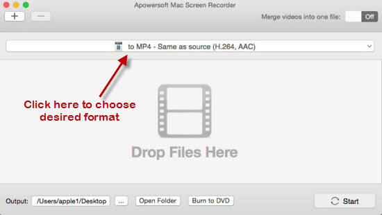record mac stream video audio setting