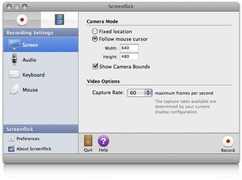 screenflick mac screen capture