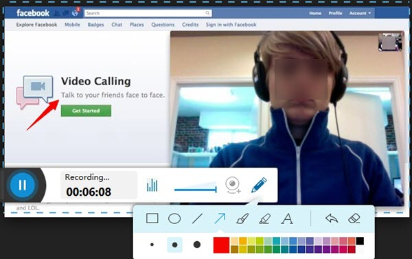 record facebook video call