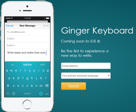 Ginger Keyboard screenshot