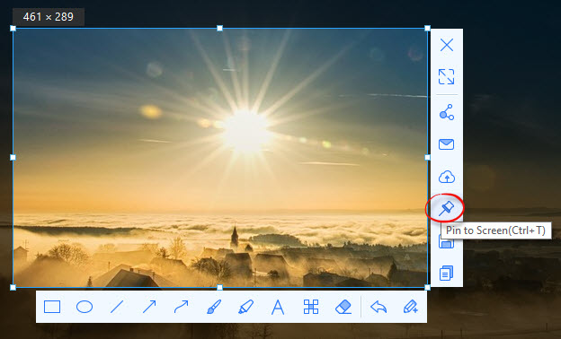 screenshot toolbar