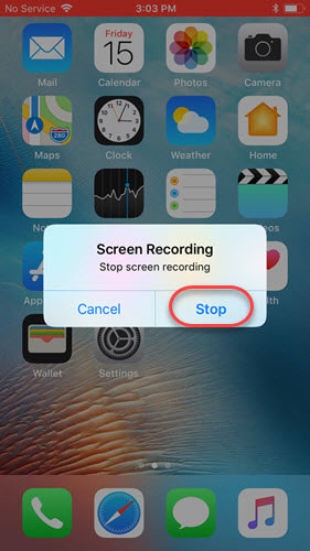 Stop screen recording
