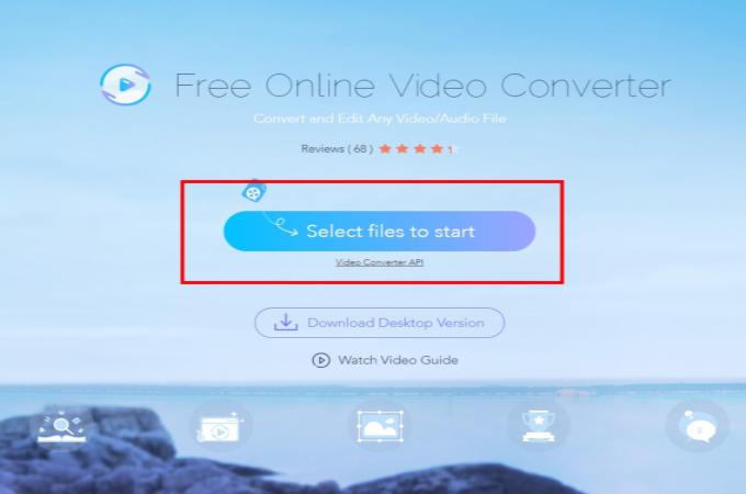 click select files to start with ap free online converter