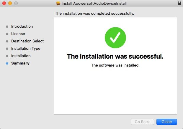 install successfully