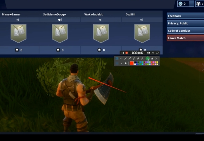 record fortnite on PC