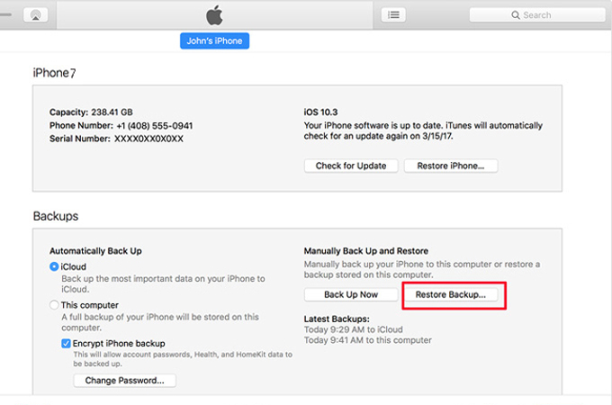 how to get serial number for iphone 7 plus