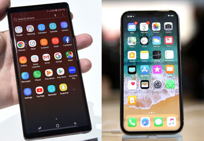 iPhone XS Max and Samsung Galaxy Note 9